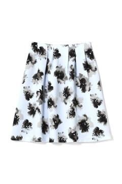 フラワープリントクレープスカート
