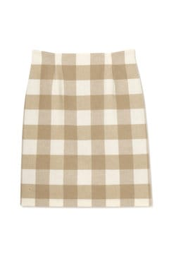 ブロックチェックセットアップ スカート