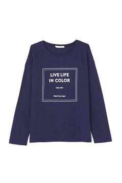 《BLUE》天竺スクエアロゴロンTシャツ