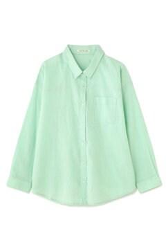 《BLUE》綿麻混カラーシャツ