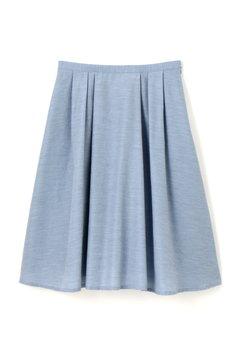 【美人百花 5月号掲載】シャンブレーツイルフレアースカート