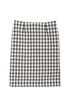 からみギンガムタイトスカート