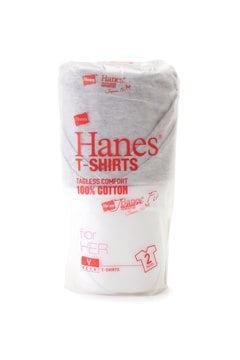《HANES》ベーシックVネックTシャツ