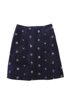 ベロアフラワー刺繍スカート