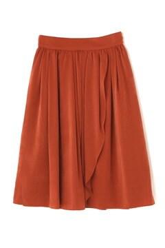 ベロアタッチサテンラップ風スカート