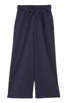《BLUE》ベルト付タックワイドパンツ
