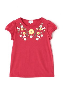 《KIDS》エンブロイダリー風プリントTシャツ