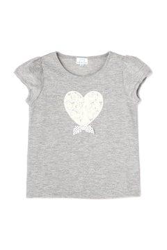 《KIDS》ハートモチーフアップリケTシャツ
