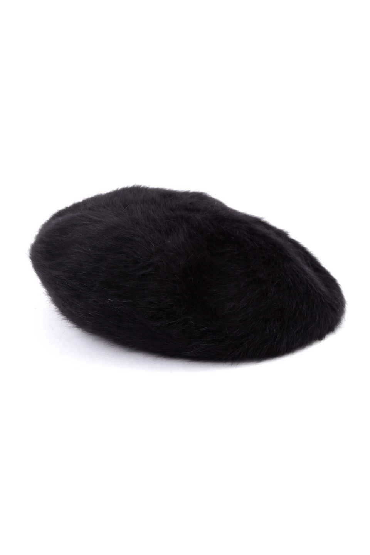 【公式/NATURAL BEAUTY BASIC/ナチュラルビューティーベーシック】アンゴラベレー帽/ウィメンズ/小物/色:クロ/サイズ:FR