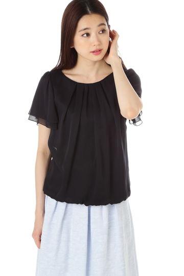 [新井恵理那さん着用][ウォッシャブル]タックブラウス