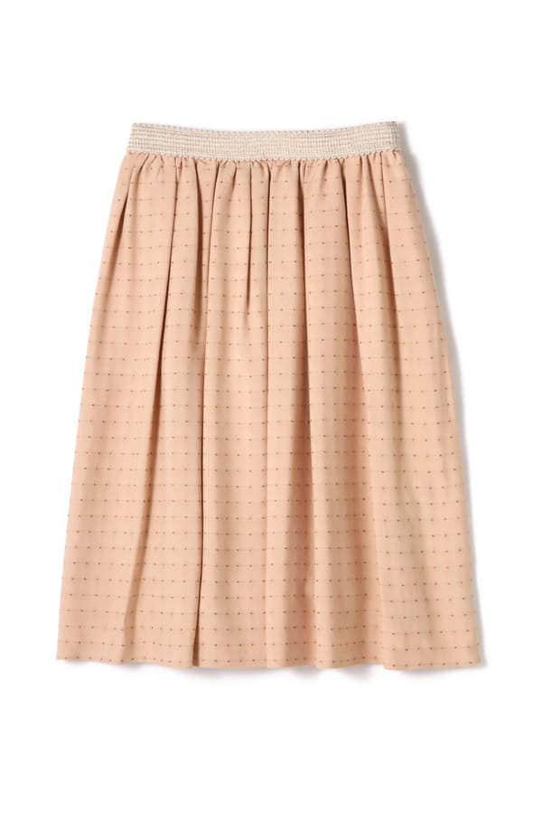 ラメノットボーダースカート