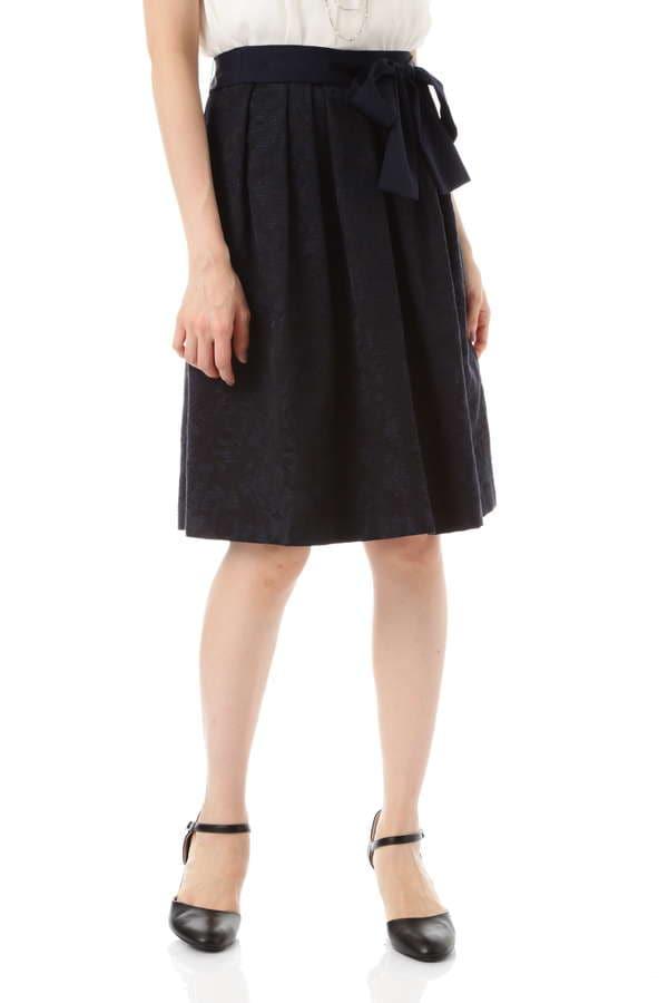 【先行予約 4月下旬 入荷予定】コットンラメフラワーJQスカート