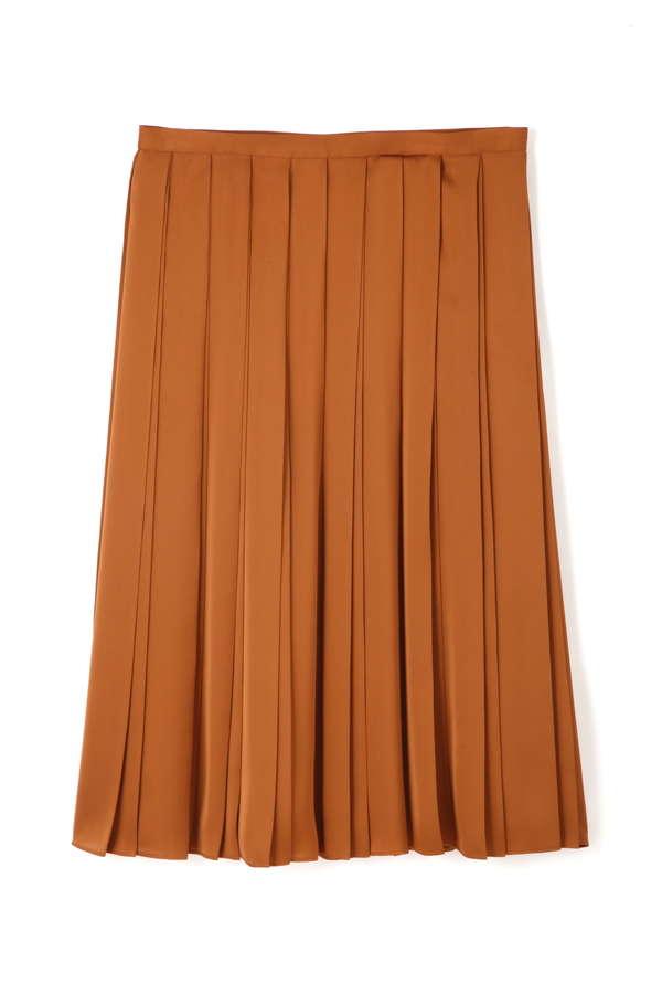 【先行予約 9月下旬 入荷予定】75dサテン広幅スカート