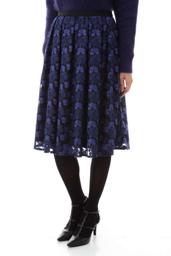 【先行予約 9月下旬 入荷予定】チュール刺繍スカート