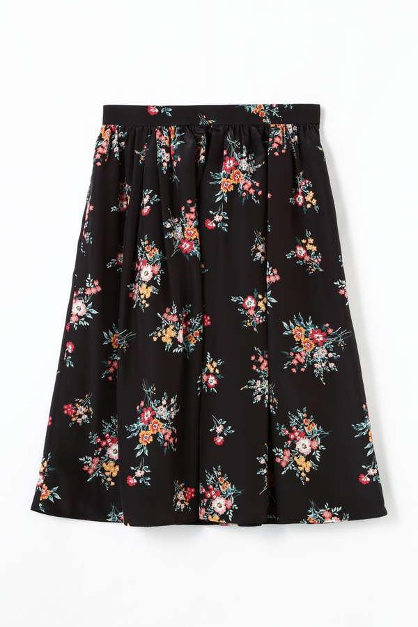 [ウォッシャブル]フラワープリントスカート