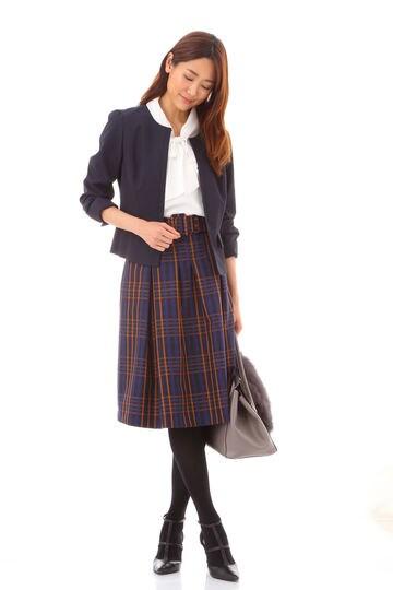 【夏目三久さん着用】ラメチェックスカート