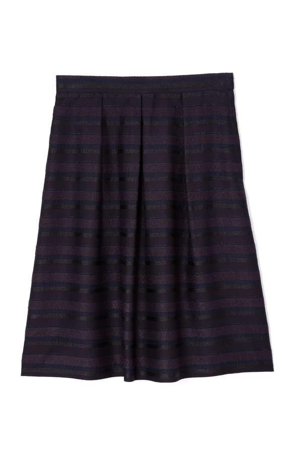 ラメタックボーダースカート