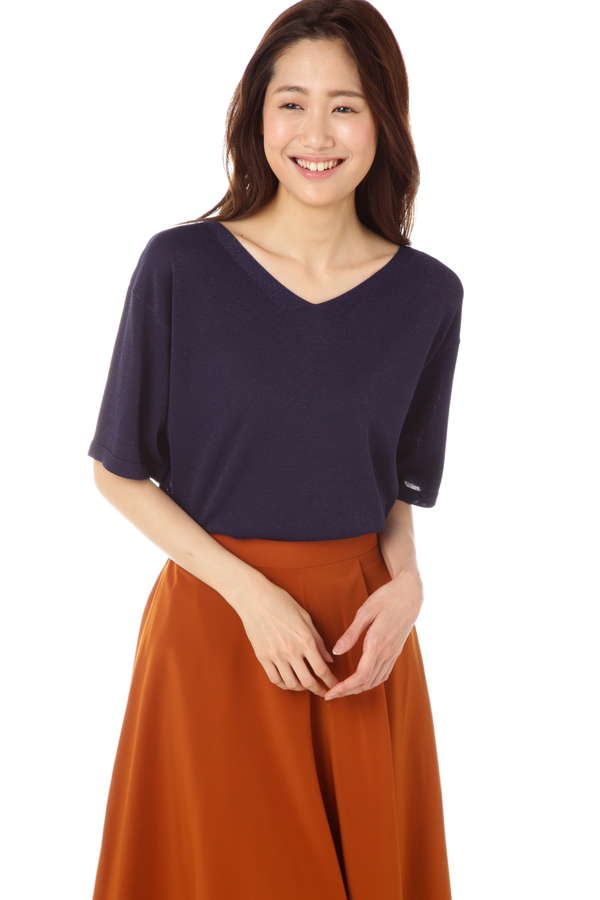 【新井恵理那さん着用】ラメリボンニット