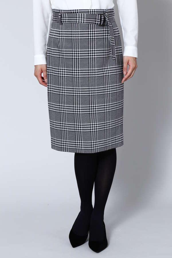 グレンチェックジャガードスカート