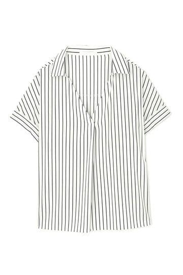 ストライププリントシャツ