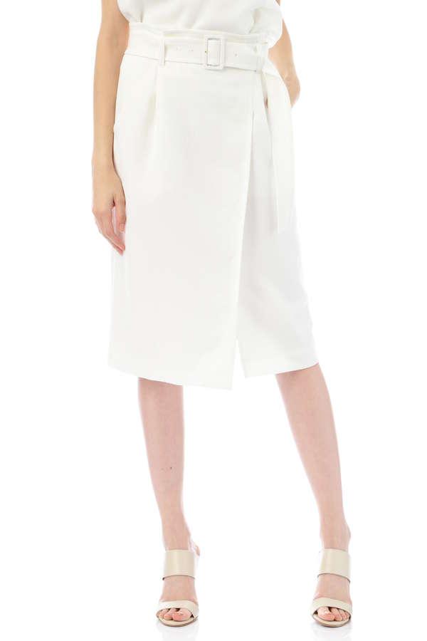 【先行予約 3月下旬 入荷予定】ドライクロスベルト付きラップ風スカート