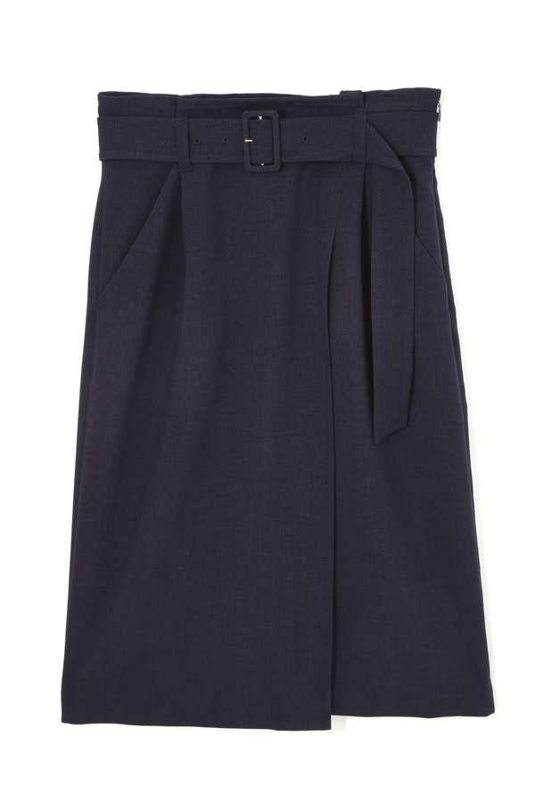 【Oggi5月号掲載】《HOLIDAY LINE》ドライクロスベルト付きラップ風スカート