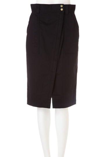 【CLASSY5月号掲載】【with5月号掲載】[ウォッシャブル]ギャバストレッチラップスカート