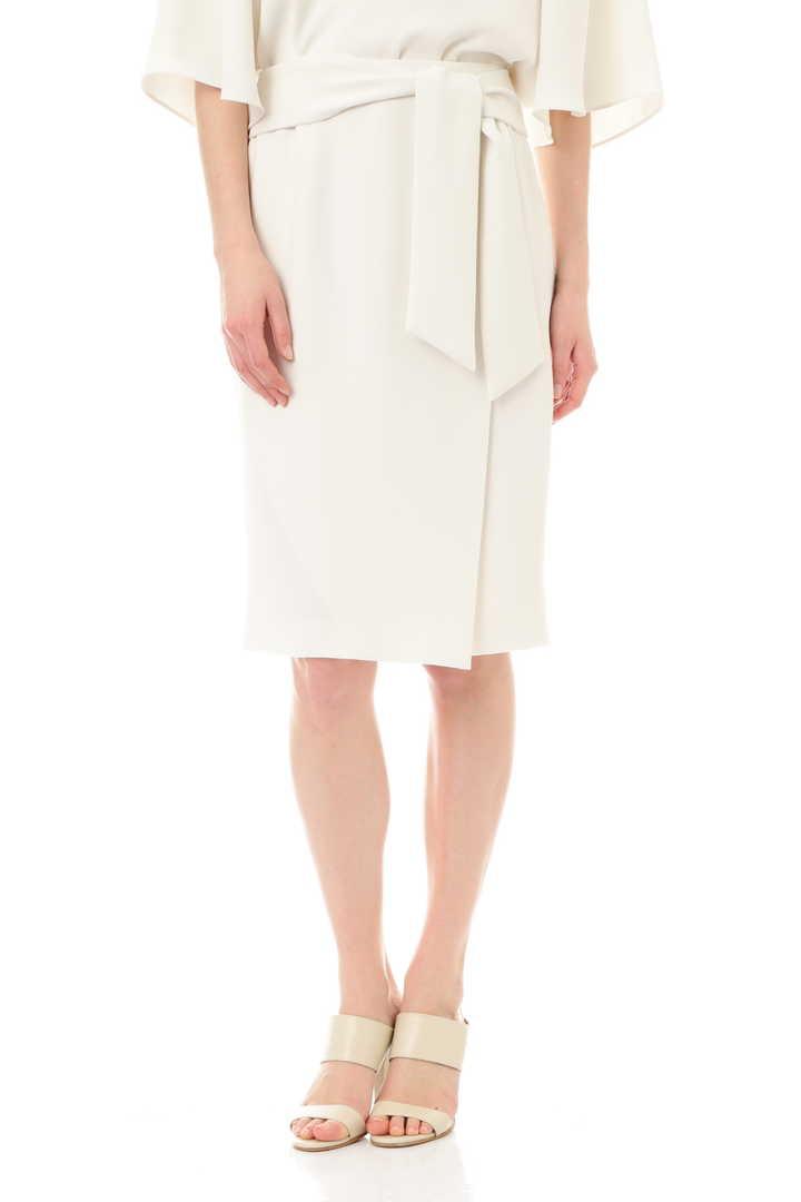 コンパクトWクロスリボンウエストスカート