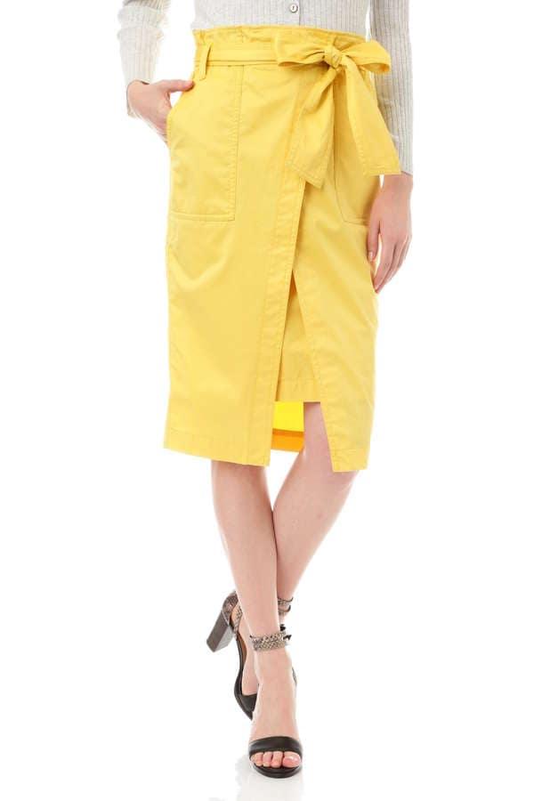 【先行予約 4月下旬 入荷予定】《HOLIDAY LINE》ギャバストレッチスカート