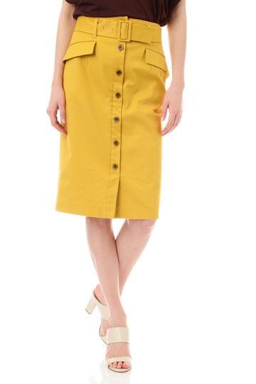 【先行予約 5月上旬入荷予定】コットンストレッチツイルラップスカート