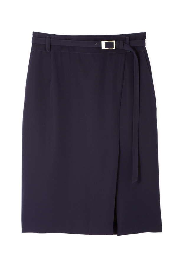 [WEB限定商品]アンバー共地ベルト付きスカート