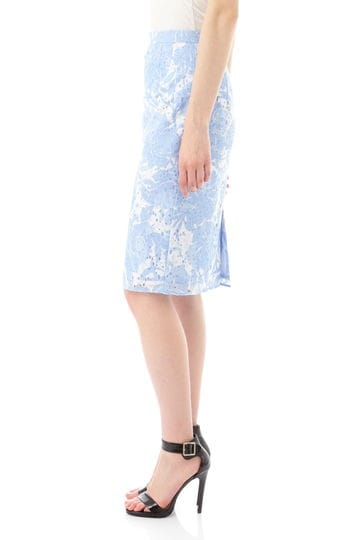 [MATERIA]レースフラワーPTタイトスカート