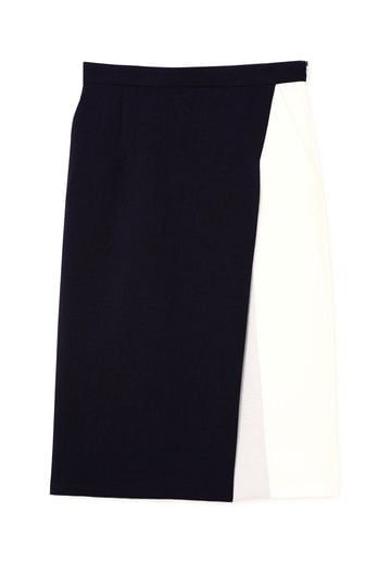 [ウォッシャブル]ドライクロスバイカラースカート
