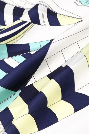 【CLASSY5月号掲載】マリン柄プリントシルクスカーフ【UNDER15000】