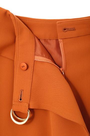 [WEB限定カラー・グリーン]ソフトサテンラップスカート