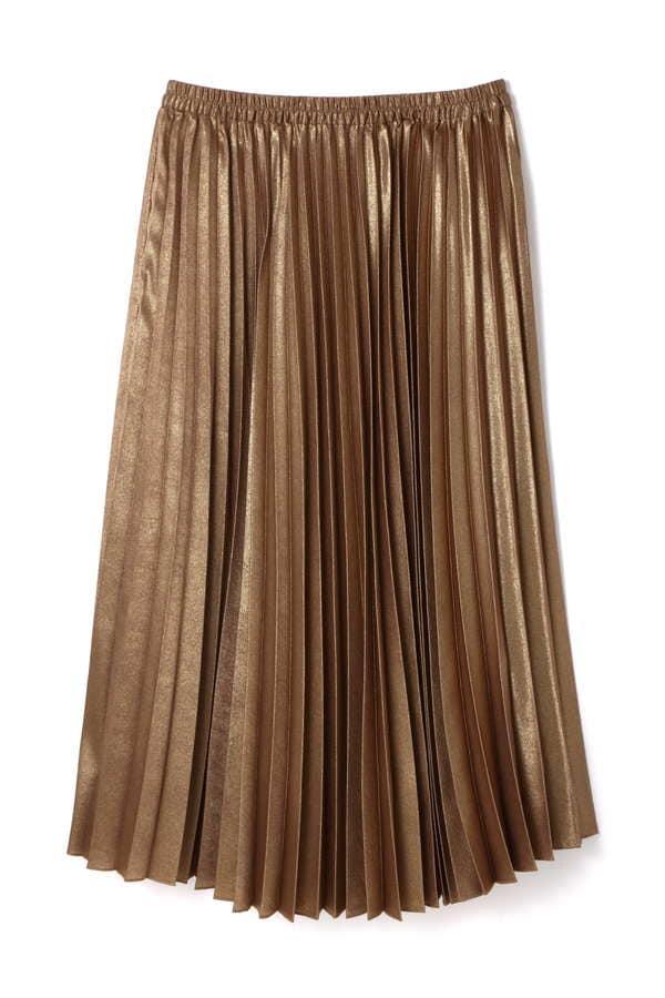 【先行予約 7月下旬 入荷予定】メタリックサテンプリーツスカート