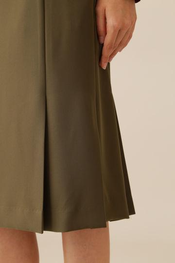 ダブルサテンスリムベルト付きスカート