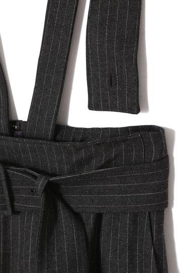 ストライプフラノジャンパースカート