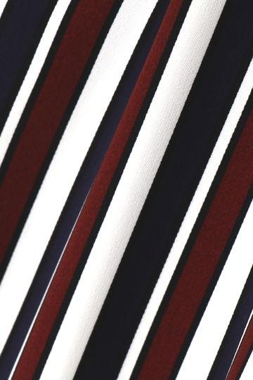 マルチストライプPTリボン付きシャツワンピース