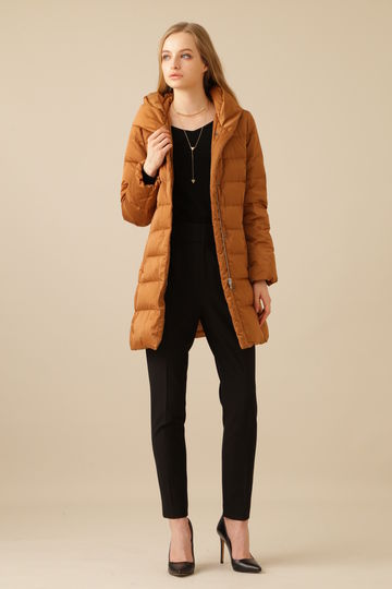 【先行予約 10月上旬 入荷予定】高密度タフタスタンドカラーコート