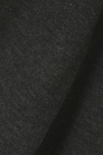 ウールコットンジャージV開きノーカラーコート