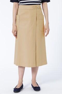 コットン二重織ラップスカート