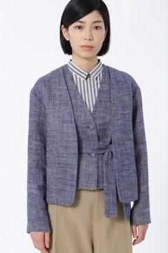 【先行予約 9月上旬お届け予定】リネンヘリンボン起毛 ジャケット