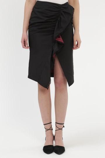 ペニーメモリーフリルタイトスカート