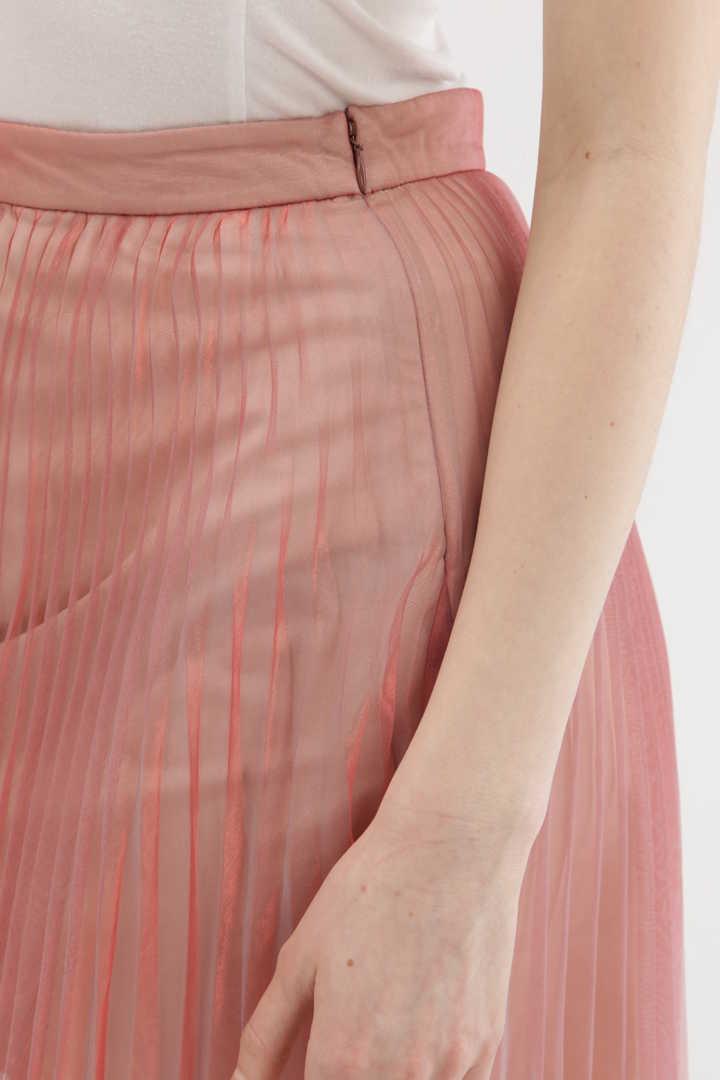【先行予約 3月中旬お届け予定】シャンブレーオーガンジープリーツスカート
