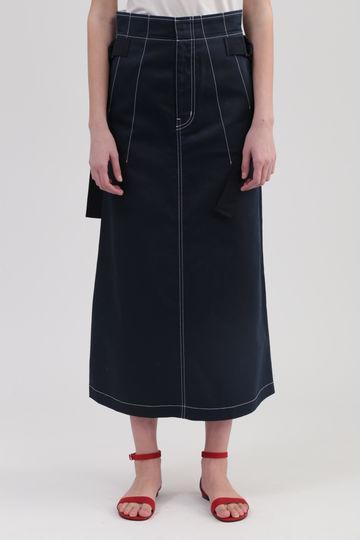 【先行予約 4月中旬お届け予定】《DICKIES》コラボカラーステッチロングスカート
