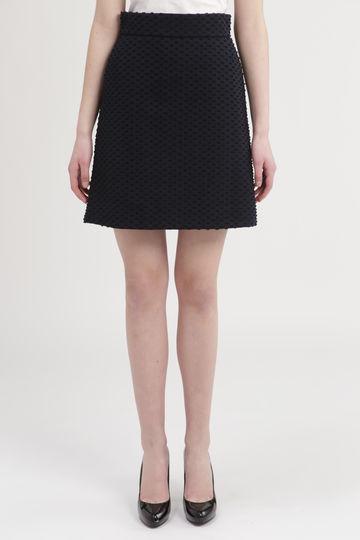 ドッティ台形スカート