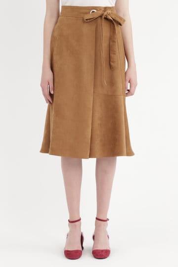 【先行予約 9月上旬お届け予定】メリッサラップ風フレアスカート