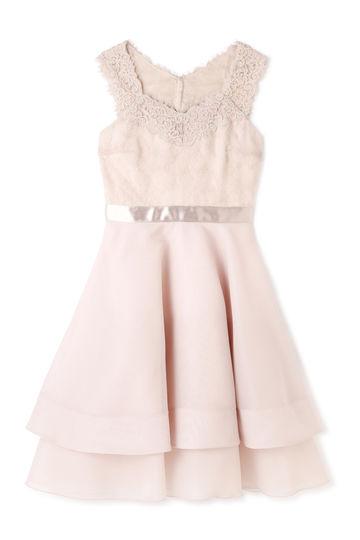 《JILLSTUART White》カラーフラワージャガードドレス