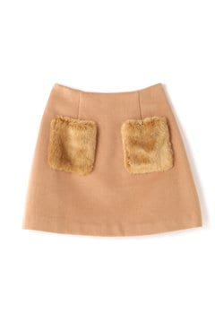 《EDIT COLOGNE》ポケットファーミニスカート